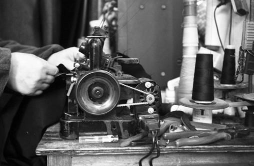 一台老式缝纫机