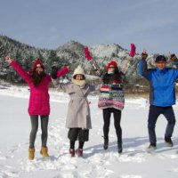 湖北英山滑雪旅游节开幕 春节畅滑桃花冲滑雪世界